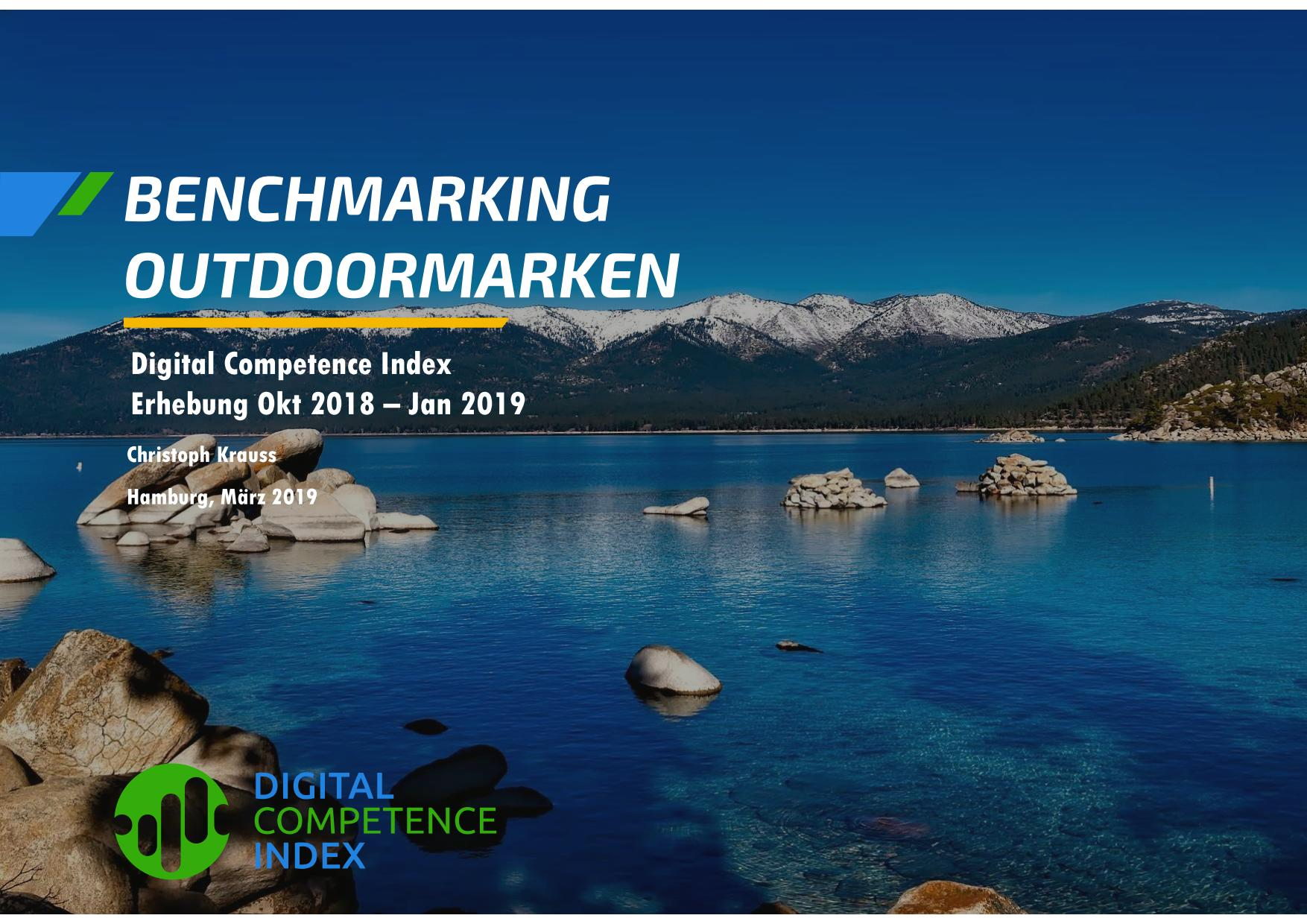 Digitale Vermarktung marketing dci outdoor jack wolfskin schöffel vaude mammut the north face benchex digital competence index
